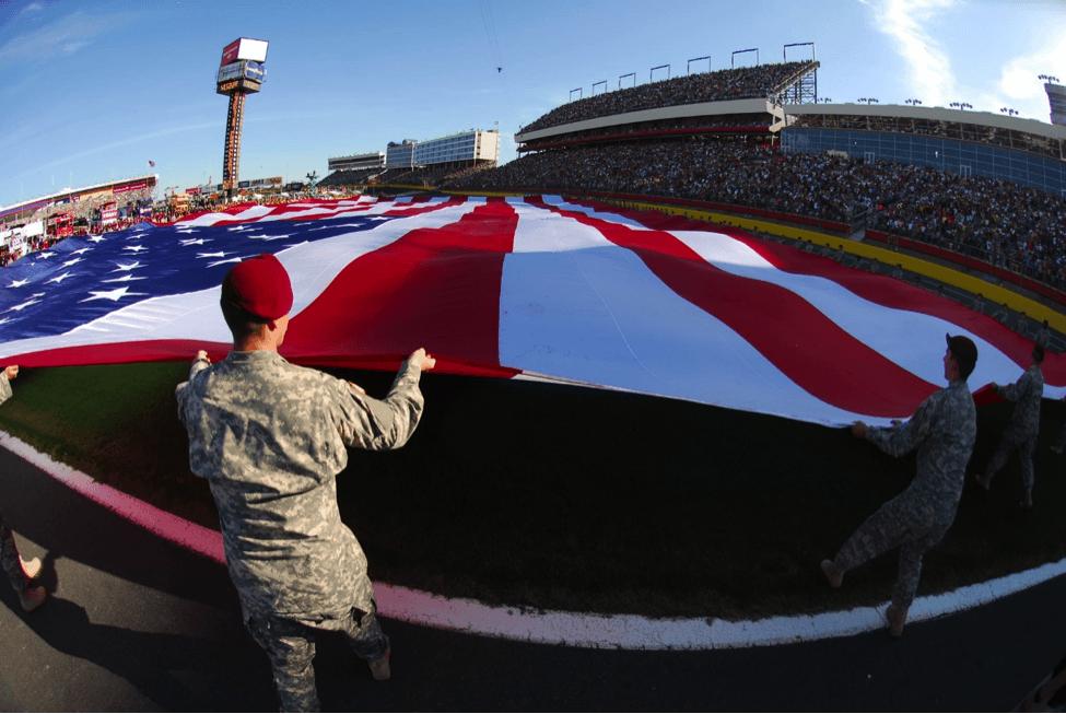 flag and football